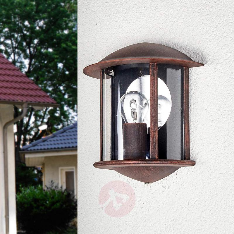 Maelis LED outside wall light rust-brown - Outdoor Wall Lights