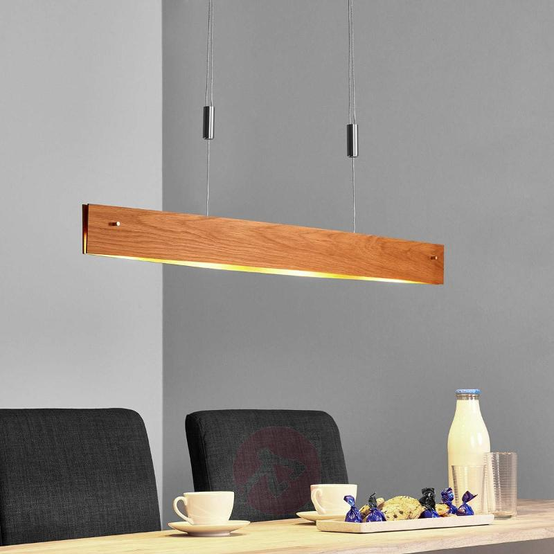 Natural oak - LED pendant light Malu, made of wood - Pendant Lighting