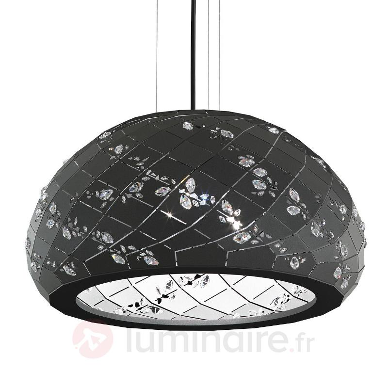 Apta - suspension noire avec cristaux, 53 cm - Suspensions design