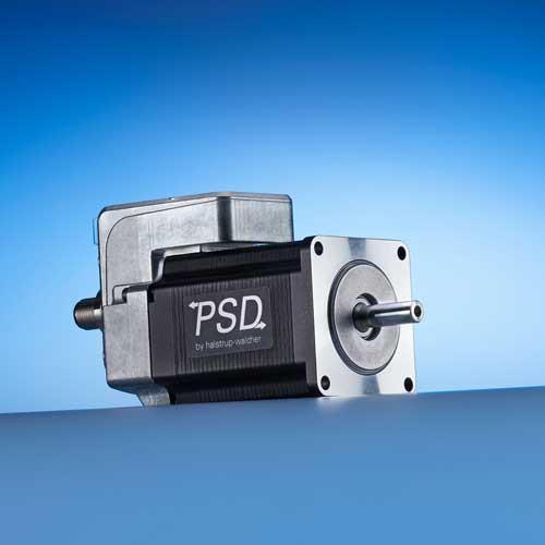 Direct Drive PSD 43 - Attuatori con direct drive con Nema 23, disegno longitudinale