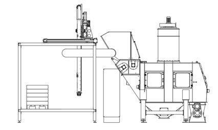 Modul zur vollautomatischen Depalettierung von Säcken... - null