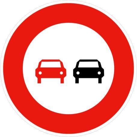 Panneau B3 Interdiction De Dépasser - Balisage De Chantier Et Panneaux Routiers