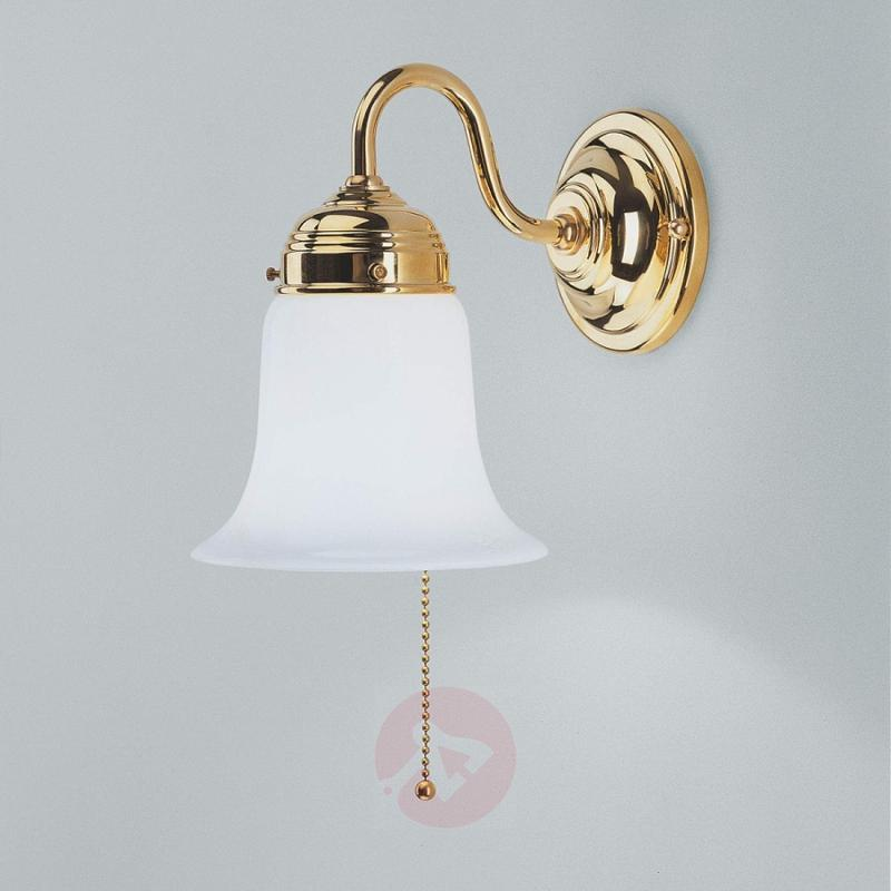 Sibille polished brass wall light - design-hotel-lighting
