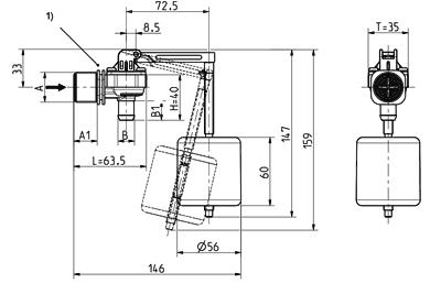 Float valve, DN 10 - 21.010.115