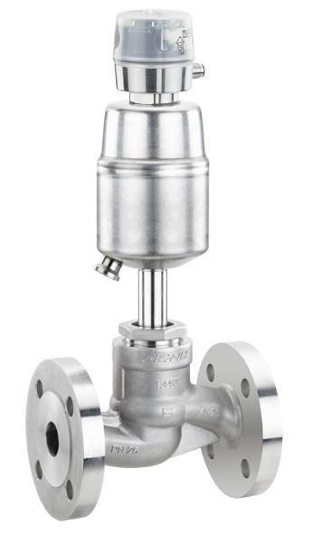 Pneumatisch betätigtes Geradsitzventil GEMÜ 530 - Das 2/2-Wege-Geradsitzventil wird pneumatisch betätigt