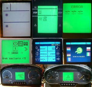 LCD DISPLAY VDO SIEMENS SOLARIS NEOPLAN MAN MERCEDES SETRA - Serwis elektroniki autobusowej - multipleksery komputery sterowniki