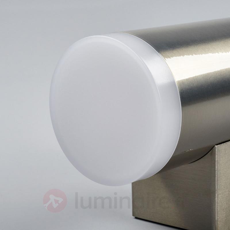Applique murale ext. LED 2 fl. Eliano, acier inox - Appliques d'extérieur LED