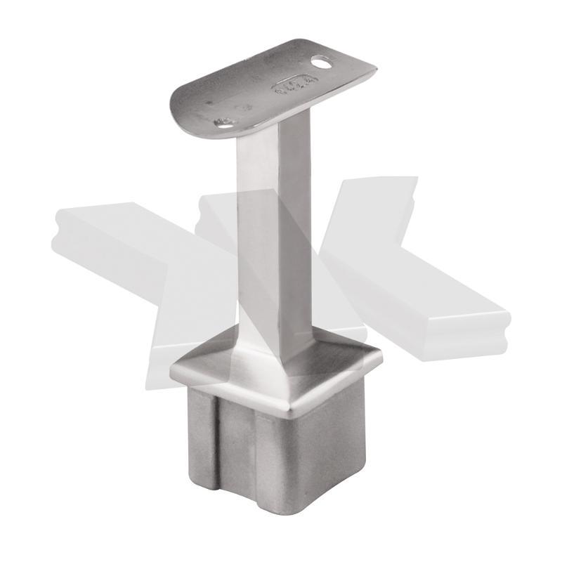 Handrail bracket for post 40x40 mm, rigid - Handrail brackets