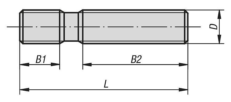 Goujon filetage roulé DIN 6379 - Accessoires