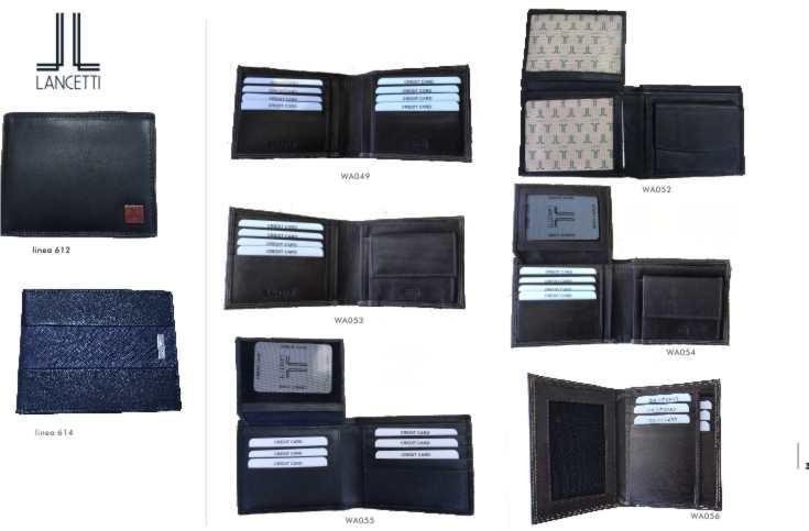 man leather wallet - Lancetti