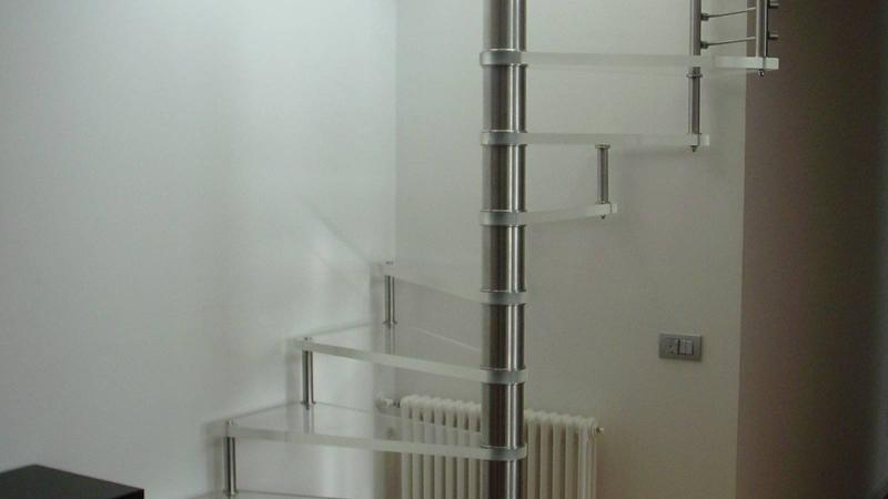Spiral glass stairs - Sciria Glas