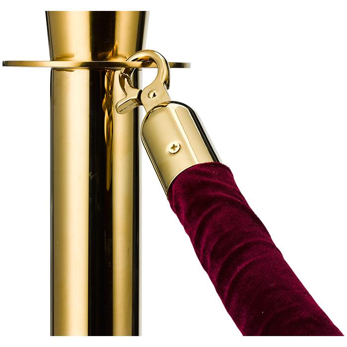 Velvet Rope Gold-bordeaux - Hotelsupply