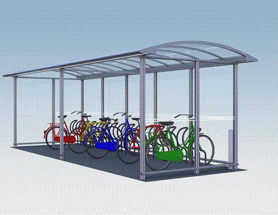 Fahrradüberdachung City 90 PLAZA II