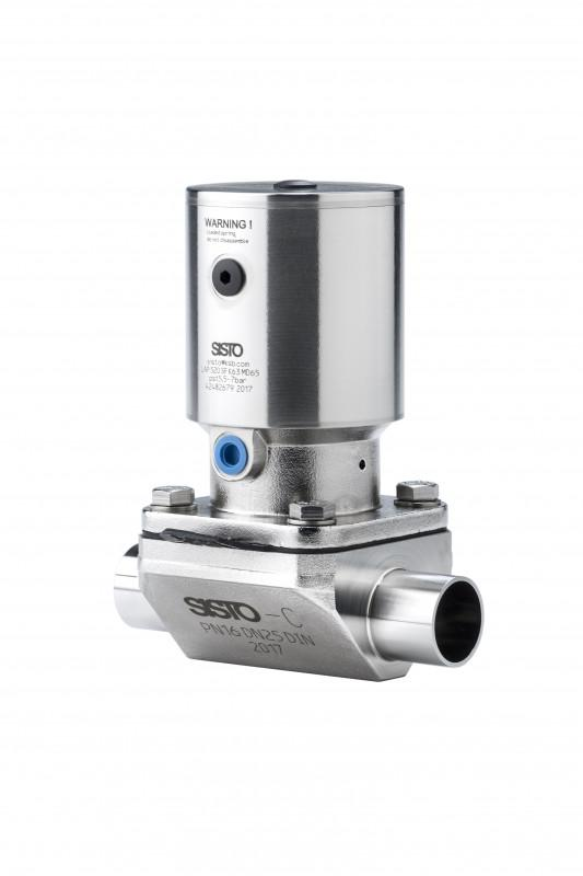 SISTO-C aseptic Diaphragm valve, forged body, PN16