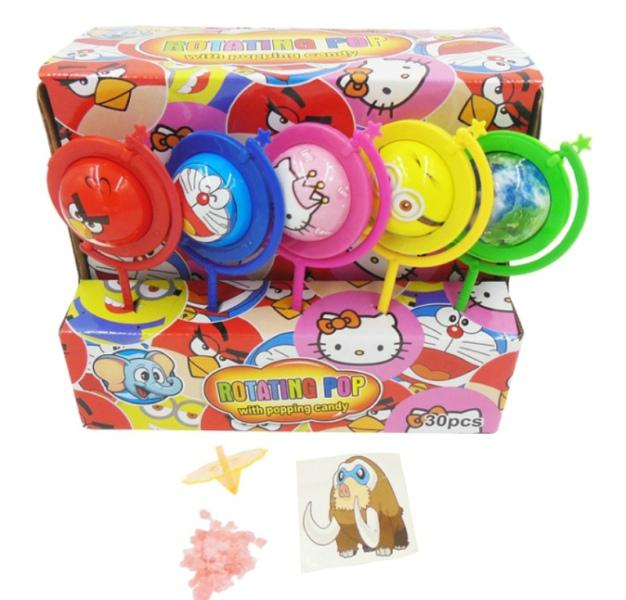 Candy Toys - Cartoon Globe Toy with Candy & Tattoo