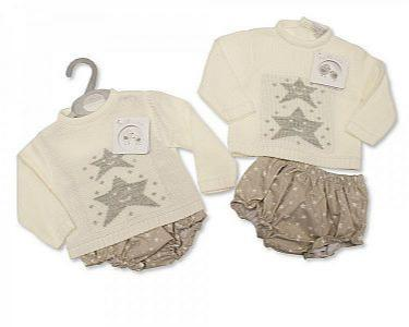 Spanish Style Knitted/Woven Baby 2 pcs Set -