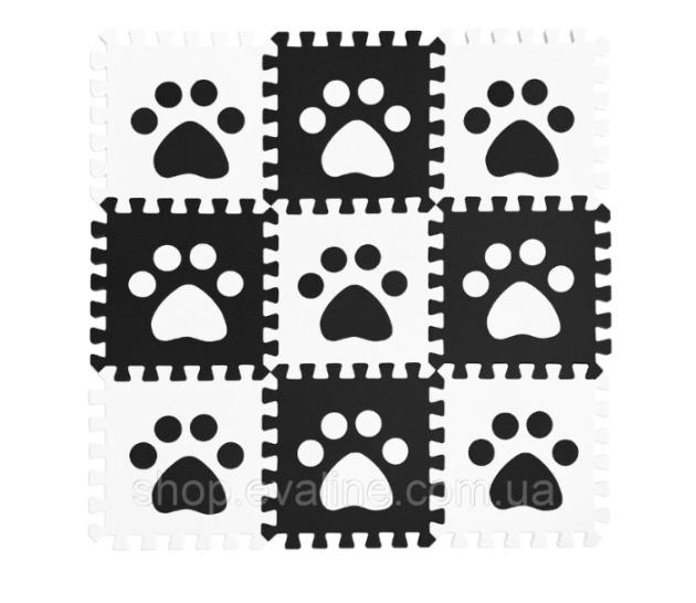 "Soft game floor ""Paws""  - (30*30*1 cm)"