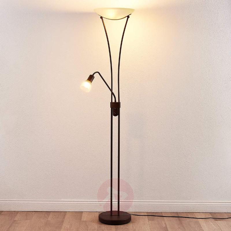 Dimmable LED uplighter Felicia in a rusty look - Uplighters