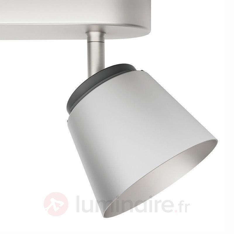 Spot LED Dender à 2 lampes - Plafonniers chromés/nickel/inox