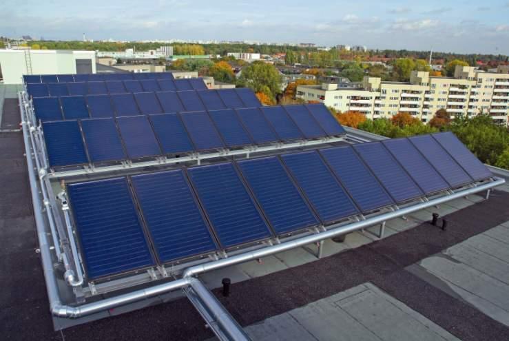 Sistemas solares térmicos de grande escala