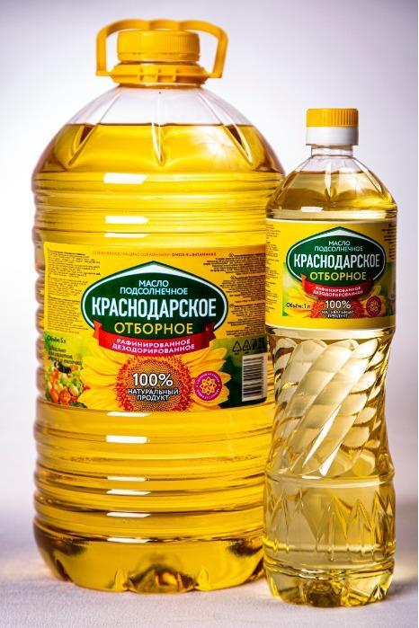 葵花籽油 - 葵花籽油精制脱臭凝结«克拉斯诺达尔精选»,特级