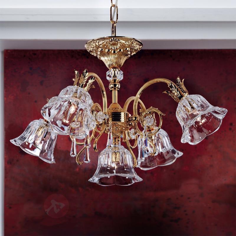 Lustre doré resplendissant KAISA, 5 lumières - Lustres classiques,antiques