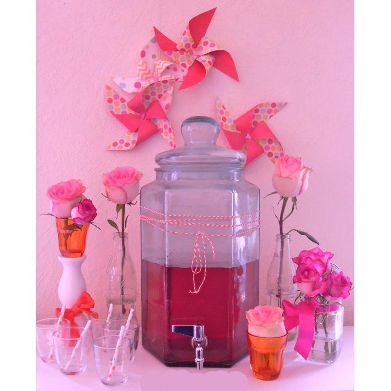 Bonbonne Hexagonale 6,5 litres avec couvercle en verre et Robinet - Bonbonnes et bonbonnières