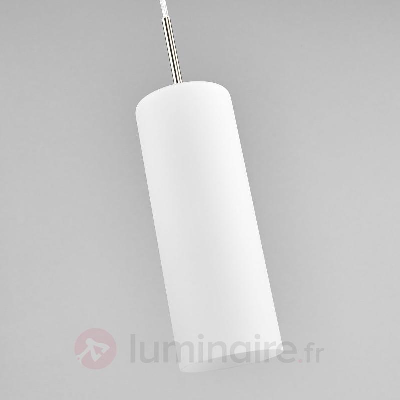 Suspension à 3 lampes TROY blanche - Suspensions en verre