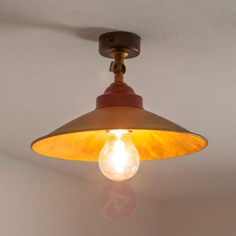 Ceiling lamp RUA made of oxidized brass - Ceiling Lights