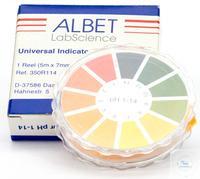 pH Indikator Streifen, Bereich: 0 - 14 pH - Laborbedarf