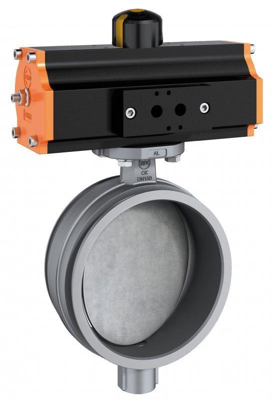 Válvula de cierre del sistema de tuberías tipo CK-M - Versión de sellado metálico  tiene un espacio aéreo entre el disco y el cuerpo.