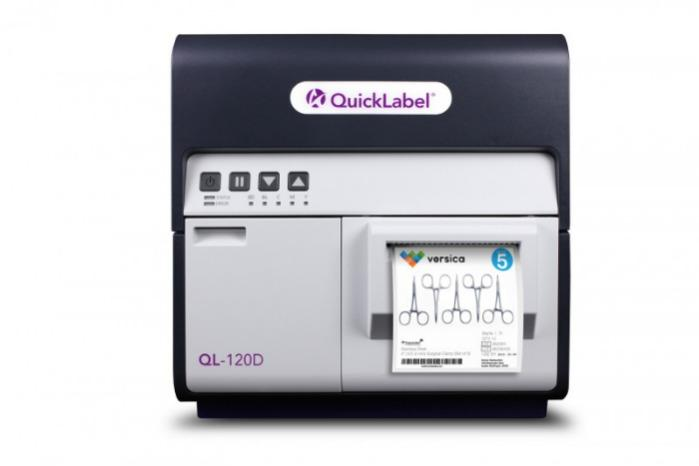 QL-120D Durable Tabletop Digital Label Printer - Inkjet Label Printer producing GHS & BS5609 compl. labels; highly durable; CMYK