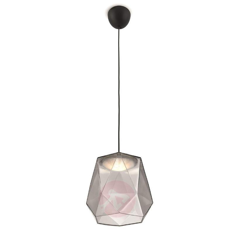 Italo LED Glass Pendant Light Grey - Pendant Lighting