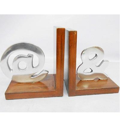 Aluminum Letter Bookends