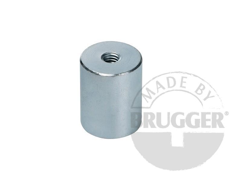 Bar magnet AlNiCo, steel body - with internal thread