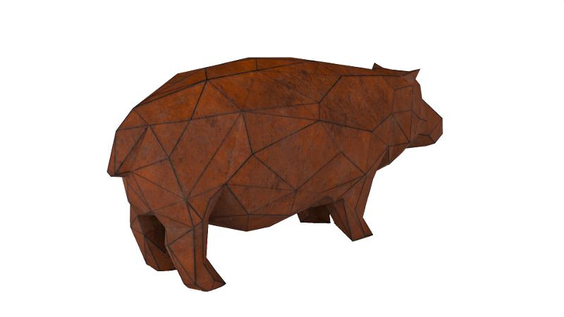 Sculpture «Baby hippo» - Garden products