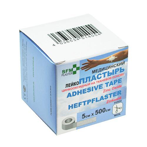 SFM Zink-Oxid Heftpflaster - mit Plastikkern in Box 5cm x 5.0m (1)