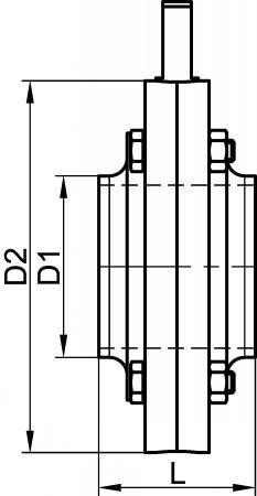 64311 VANNE PAPILLON BOUTS LISSES JOINT EPDM Inox 316L - Vannes papillon MACON
