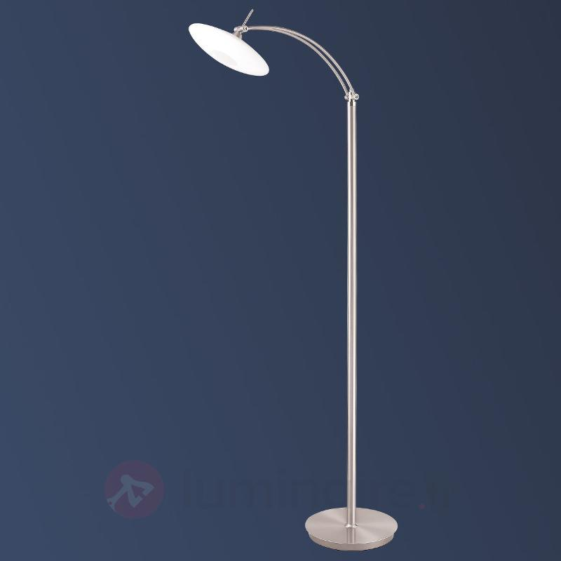 Lampadaire LED New Elina Nickel à une lampe - Lampadaires LED
