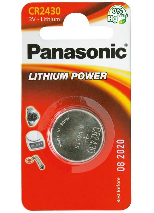 Batterie al litio a bottone CR2430 - CR-2430L/1BP | Blister da 1 microbatteria specialistica Panasonic
