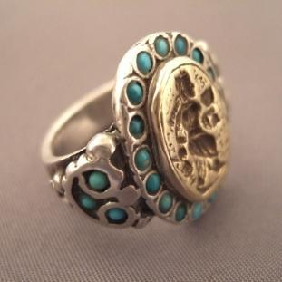 Bagues - Argent, intaille, vermeil, turquoises, Iran
