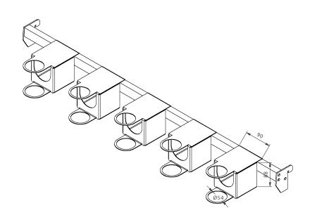 Modular shop rack systems & instore interior shelving design - Hair dryer presentation