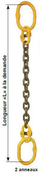 Elingues chaînes - Elingue chaîne à 1 brin