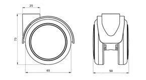 "Reinforced copolymer ""W"" type soft treads ADAPTO ® - CASTOR EMI Ø mm. 65 ""GEMIBASE"" + ""ADAPTO®"""
