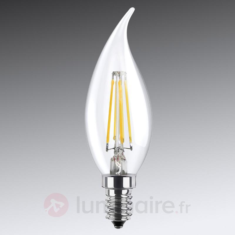 Ampoule flamme LED E14 4W 826 transparente - Ampoules LED E14