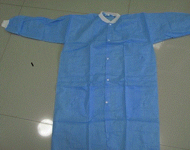 Disposable nonwoven lab coat - Color: blue, white, green, yellow Material: PP nonwoven material / PE film
