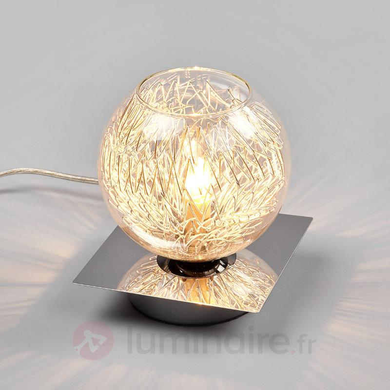 Lampe à poser ravissante Paulina, décor métallique - Lampes de chevet