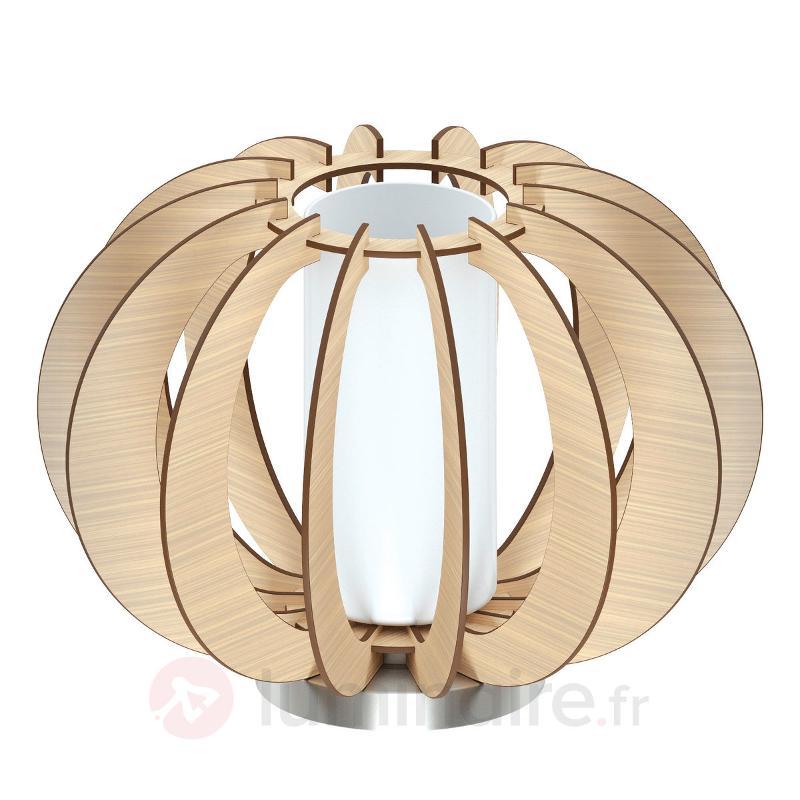 En lamelles de bois - lampe de table Stellato - Lampes à poser en bois