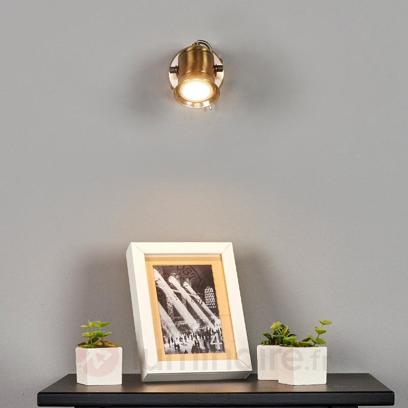 Spot GU10 rustique Marlis, laiton ancien - Tous les spots et projecteurs