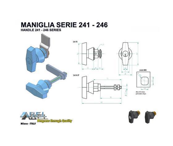 Chiusure Maniglie - Maniglie SERIE 241 - 246